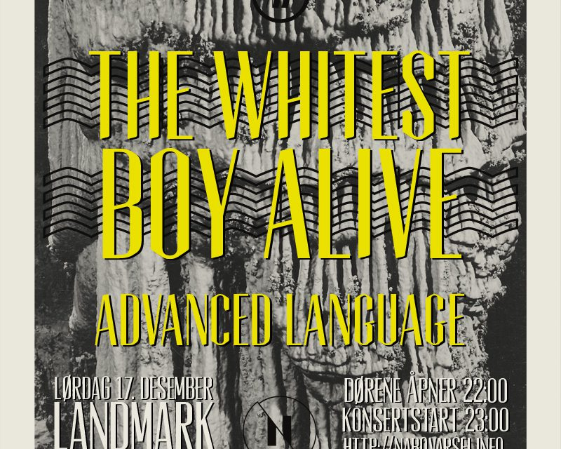 NABOVARSEL SAT. 17. DEC: THE WHITEST BOY ALIVE + ADVANCED LANGUAGE