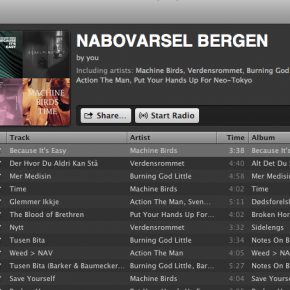 Nabovarsel on Spotify.