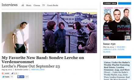 My Favorite New Band: Sondre Lerche on Verdensrommet