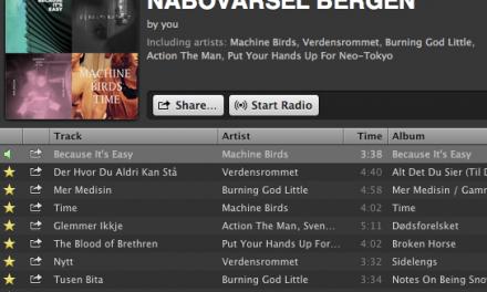 Nabovarsel on Spotify.